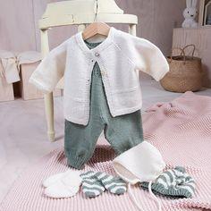 Bluum babysett - Hjerte - i Pure Eco baby Wool - Bluum