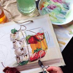 Watercolorist: @maria.mishkareva  #waterblog #акварель #aquarelle #painting #drawing #art #artist #artwork #painting#illustration #watercolor #aquarela