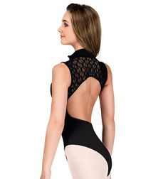 Adult Tank Leotard with Zipper Front and Lace Back - Style Number: SIL88201
