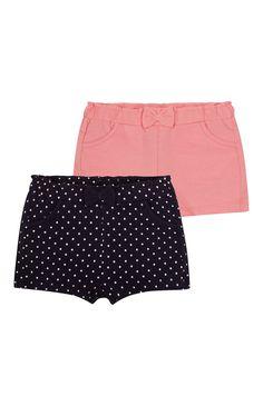 Primark - Shorts, roze en zwart, set van 2