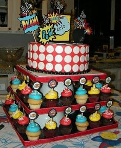 don't use just ordinary invitations!! have your #kids use #invitebandz for this fun-filled #party! #comics #decorations #food