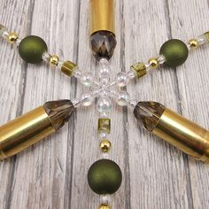 9mm Snowflake Ornament Hunting Theme Hunter by DeederTheBeader