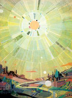 Covers by Victo Ngai, via Behance #landscape #illustration #quilt