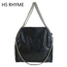 HS RHYME Fashion Women Messenger Shoulder Bags PU Falabellas Hobo Clutch Chains Evening Socialite Tote Sac A Main Female Handbag ** Click the image to visit the website