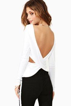 open back shirt