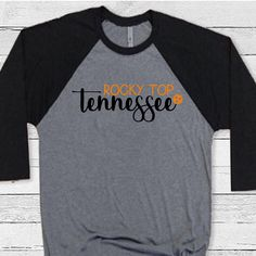 Excited to share this item from my shop: Ready to Press Rocky Top Tennessee Tristar Tennessee HTV Design Jeep Shirts, Raglan Shirts, Baseball Shirts, Shirt Designs, Vinyl Designs, Cool Shirts, Tennessee, Light In The Dark, Fabric Design
