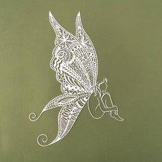 Fairy gifts Fairy art Fairy wings Fairy wall art Papercut