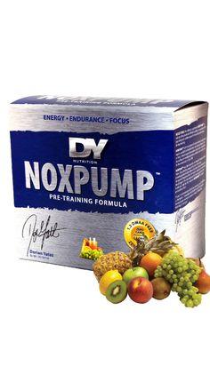 NOXPUMP Dorian Yates Nutrition. NOX PUMP je dokonalý pře tréninkový nakopávač svého druhu na světě, po jeho užívání získate masivní napumpování