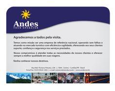 E-MAIL MKT :: ANDES TOURISM :: DESIGN PRÓPRIO :: march/2011