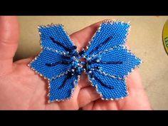 Crochet Flower Tutorial, Crochet Flowers, Tulle Skirt Tutorial, Beaded Flowers Patterns, Beaded Jewelry Designs, Tiny Stud Earrings, Beaded Brooch, Christmas Jewelry, Beading Tutorials