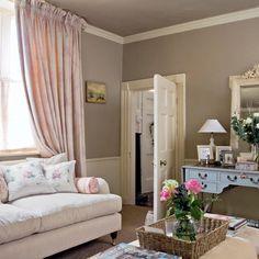 Rosa traditionellen Wohnzimmer Wohnideen Living Ideas Interiors Decoration