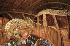 Kids Den at the Soneva Kiri hotel resort, Koh Kood Island, Thailand Exterior Design, Interior And Exterior, Future House, My House, Bamboo Architecture, Innovative Architecture, Amazing Architecture, Cool Tree Houses, Bamboo House
