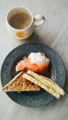 Avocado and grilled cheese sandwich,smoked salmon,poached egg.