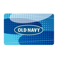 Old Navy Blue Dots Gift Card ($5) ❤ liked on Polyvore featuring gift cards, money et women