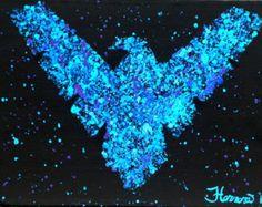 Nightwing DC Comics Logo 11x17 Artist Signed Print