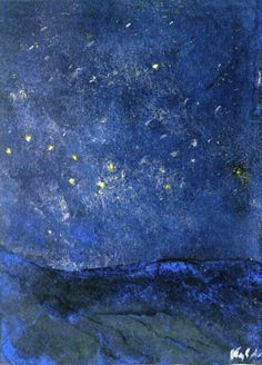 Starry SkyEmil Nolde - 1938-1945  Nolde Foundation Seebüll - Neukirchen (Germany) Painting - watercolor