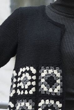 Transcendent Crochet a Solid Granny Square Ideas. Inconceivable Crochet a Solid Granny Square Ideas. Pull Crochet, Gilet Crochet, Crochet Coat, Crochet Jacket, Crochet Cardigan, Crochet Clothes, Crochet Motifs, Granny Square Crochet Pattern, Crochet Squares