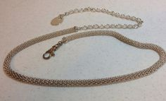 Vintage Silver Metal Mesh Adjustable #Belt $15. by Oldtonewjewels on Etsy