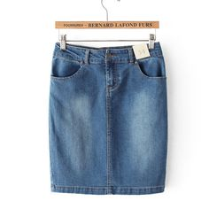 Denim skirts for women slim pencil bottoms ND-D1050