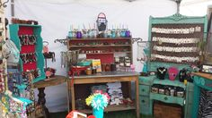 The Bucking Mare booth Display