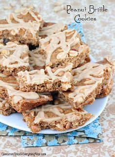 Peanut Brittle Cookies with Peanut Butter Icing