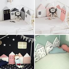 Baby Bed Bumper House Pattern Baby Crib Protector Crotch To The Cot Infant Cotton Cradle Guard Bumpers Baby Room Decoration Baby Cot Bumper, Bed Bumpers, Baby Cribs, Crib Protector, Baby Sewing, Sewing Diy, Diy Pillows, Baby Room Decor, Mother And Child