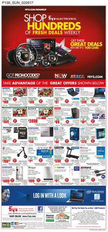 Fry's Electronics Weekly Ad February 26 - March 4, 2017 - http://www.olcatalog.com/electronics/frys-weekly-ads.html