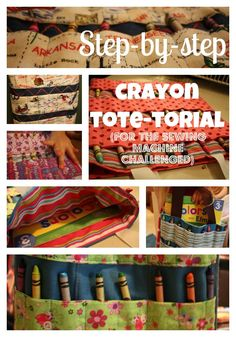 Coloring Book and Crayon Holder Tutorial - perfect for the little ...