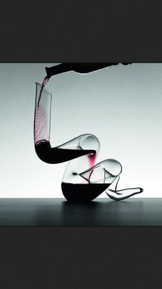 "The sound of amazing RED wine pouring into a decanter....""can't you just  smell it.....?"""