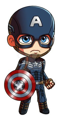 Captain America: Winter Soldier Chibi by Red-Flare Browse our distinctly homemade Anime Keychains available on http://www.animechain.com