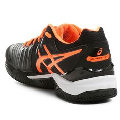 Tênis Asics Gel-Resolution 7 Clay - Preto e Laranja
