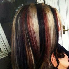 Blonde red black!