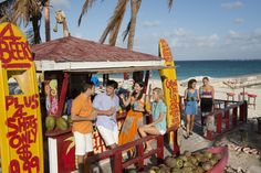 Is there anything better than a bar right on the beach? Nassau Paradise Island, The Bahamas.