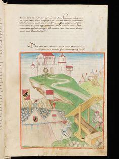 Standortland: Schweiz Ort: Bern Bibliothek / Sammlung: Burgerbibliothek Signatur: Mss.h.h.I.2 Handschriftentitel: Diebold Schilling, Amtliche Berner Chronik, Bd. 2 Datum: 1478-1483 Sprache: Deutsch