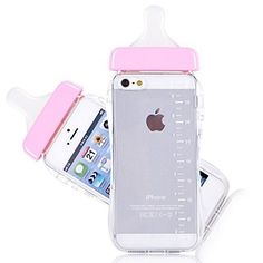 Generic Baby Bottle Cute 3D TPU Soft Pregnant Woman Milk Bottle Clear Case Lanyard Case Cover for iPhone 5/5s (Pink). Handcraft : Tightly-knit. Design : The baby bottle case. PC+TPU perfect combination soft and comfortable without transformed and also anti-shock and fall. The height design of hole position is highly match and not to influence with internal flash, easy to use. Digital screen printing zero error , 100% HD no mistake.