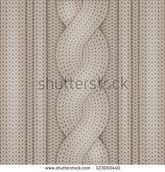 Knitted woolen texture - stock vector