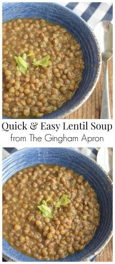 Quick & Easy Lentil Soup- there is so much to love about his soup! It's ready in under 30 minutes, it's packed full of nutrition, it's a super cheap meal, and it's delicious! you'll love it, too! Super Cheap Meals, Quick And Easy Soup, Incredible Recipes, My Best Recipe, Food Dishes, Main Dishes, Lentils, Cooking Recipes, Veg Recipes