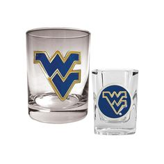 West Virginia Mountaineers 2-pc. Rocks and Shot Glass Set, Multicolor