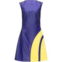LATTORI Pop Art Style Purple Dress ($89) ❤ liked on Polyvore featuring dresses, lattori, short dress, mini cocktail dress, short dresses, evening cocktail dresses, evening dresses and fancy cocktail dresses