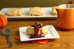 No Bake Egg Free Pumpkin Cheesecake With Praline Sauce via @Carla   Chocolate Moosey