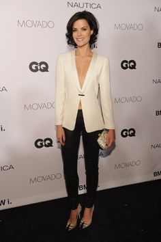 Jaimie Alexander goes braless in a blazer for the 2013 GQ Gentlemen's Ball in New York Gq, Jamie Alexander Hair, Jaimie Alexander Dress, Medium Hair Styles, Curly Hair Styles, Mannequins, Her Hair, Hair Inspiration, Nice Dresses