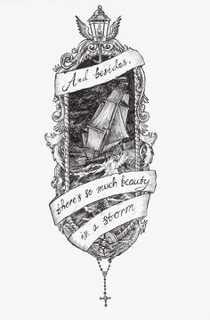 And besides, there's so much beauty in a storm.... Amazing tattoo idea for the left thigh!!