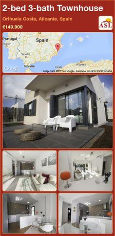 Villa for Sale in Orihuela, Alicante (Costa Blanca), Spain with 2 bedrooms, 2 bathrooms - A Spanish Life Valencia, Portugal, Alicante Spain, Open Plan Kitchen, Common Area, Large Windows, Ground Floor, Storage Spaces, Bungalow