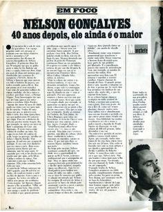 """""""Nélson Gonçalves - 40 anos depois ele ainda é o maior"""" - da revista """"Manchete"""" de 1980 - página 1/2."""