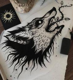 Эскизы волков • Значение татуировки с волком