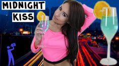 Midnight Kiss by The Tipsy Bartender 3/4oz Vodka 5oz Champagne 1/4oz Blue Curacao