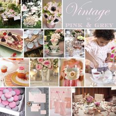 pink and grey<3 One of my favorite color pallets. It is what we did for our wedding.