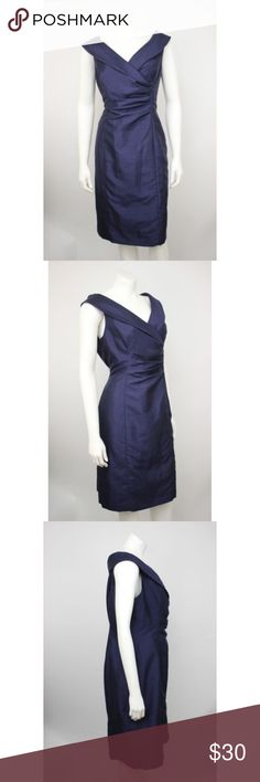"Jones Wear Dress Navy Blue Ruching Shift Dress Jones Wear Dress Navy Blue Nylon Jewel Neck Front Ruching Shift Dress.   Measurements (flat / un-stretched): Tagged Size: 14 Bust: 42"" Waist: 35"" Length (shoulder to hem): 40"" Jones New York Dresses"