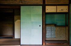 Blue Fusuma at Shokintei   Katsura Rikyu Imperial Villa