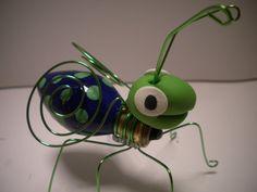 Recycled lightbulb bug
